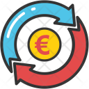 Currency Arrows Euro Icon