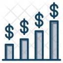 Currency Rate Currency Bar Stock Market Icon
