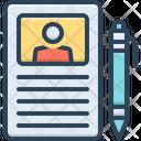 Curriculum Description Resume Icon