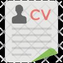 Cv Curriculum Vitae Icon
