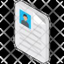 Cv Curriculum Vitae Resume Icon