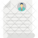 Curriculum Vitae Cv Job Profile Icon