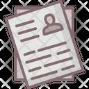 Curriculum Vitae Cv Form Job Profile Icon