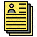 Curriculum Vitae Paper Teamwork Icon