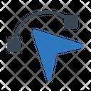Cursor Arrow Curve Icon