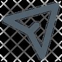 Cursor Direction Send Icon