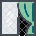 Curtain Textile Fabric Interior Icon