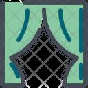 Curtain Textile Fabric Icon