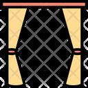 Curtain Window Home Icon