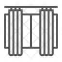 Curtains Furniture Home Icon