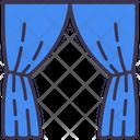 Home Curtains Decor Icon