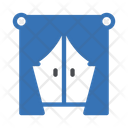 Curtains Window Home Icon