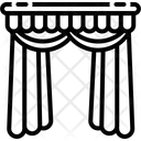 Curtains Veiling Window Curtains Icon