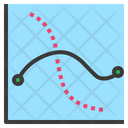 Curve Graph Chart Icon
