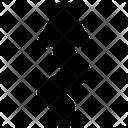Arrow Curve Zigzag Icon