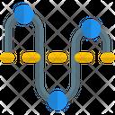 Curve Graph Line Graph Icon
