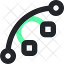 Curve Line Background Vector Icon