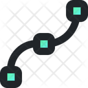 Curve Strike Vector Illustration Icon