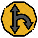 Curve Turn Sign Icon