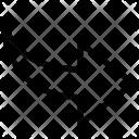 Curved Arrow Arrow Icon