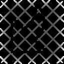 Arrow Bottom Left Corner Icon