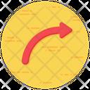 Arc Arrow Curved Arrow Direction Arrow Icon