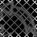 Curved Arrow Wave Arrow Bed Arrow Icon