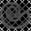 Curved Arrow Bend Arrow Arrowhead Icon