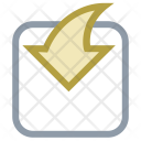 Curved Arrow Down Icon