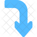 Curved Down Arrow Icon
