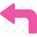 Curved Left Arrow Icon