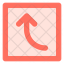 Curved Left Up Icon