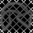 Curved Right Short Arc Arrow Arrowhead Icon