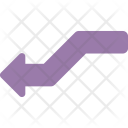 Curved Right Arrow Icon