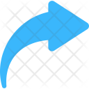 Curved Right Navigational Icon