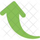 Curved Up Arrow Icon