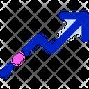 Curved Up Arrow Right Up Arrow Arrow Icon
