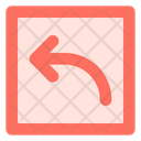 Curved up left arrow Icon