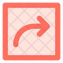 Curved up right arrow Icon