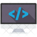 Custom Coding Web Development Programming Icon