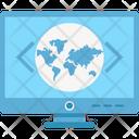 Custom Coding Global Coding Globe Icon