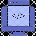 Coding Custom Development Icon