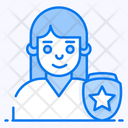 Custom Protection Security Officer Female Cop Icon