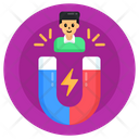 User Attraction Customer Attraction Client Attraction Icon
