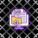 Customer Base Customer Detail Folder Customer Records Icon
