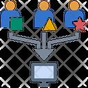Customer Behavior Database Survey Icon