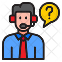 Man Call Question Icon