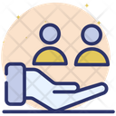 Customer Care Client Support Human Resources Icon
