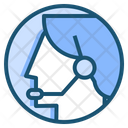 Customer Support Headset Icon