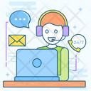 Call Center Customer Service Operator Icon